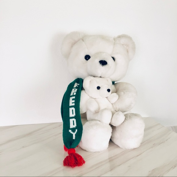 Frederick & Nelson Vintage White Bear and Baby